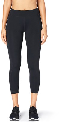 "Core 10 Amazon Brand Women's 'Build Your Own' Flashflex Run 7/8 Crop Legging - 24"" (XS-XL Plus Size 1X-3X)"