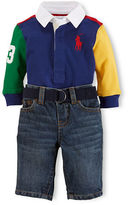 Ralph Lauren Polo Shirt & Belted Jeans Set