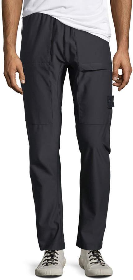 Stone Island Men's Stretch-Nylon Straight-Leg Pants