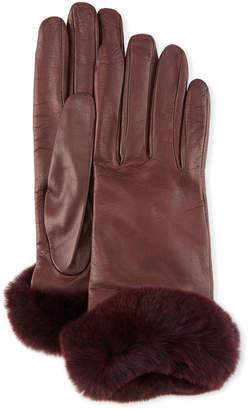 Guanti Giglio Fiorentino Leather Gloves w/ Fur Cuffs
