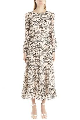 Saloni Isabel Jungle Print Dress