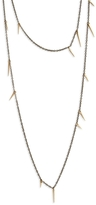 Marion Cage Small 34 Inch Point Scatter Necklace - Gold and Silver