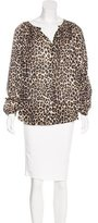 Tamara Mellon Printed Long Sleeve Blouse w/ Tags