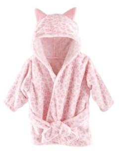 Hudson Baby Plush Hooded Bathrobe, 0-9 Months