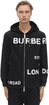 Burberry LOGO PRINT TECH BOMBER JACKET