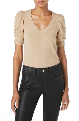 Frame Frankie Recycled Cashmere Short Sleeve Sweater