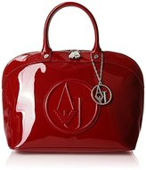 Armani Jeans Eco Patent Bowler Bag