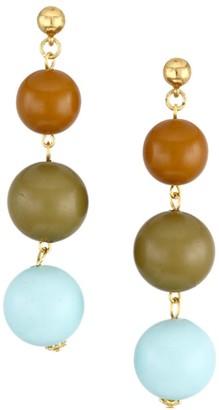 Oscar de la Renta Small Ball Drop Linear Earrings