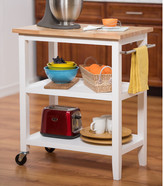 Trinity Kitchen Cart with Wood Top