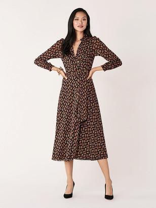 Diane von Furstenberg Phoenix Mesh Wrap Dress