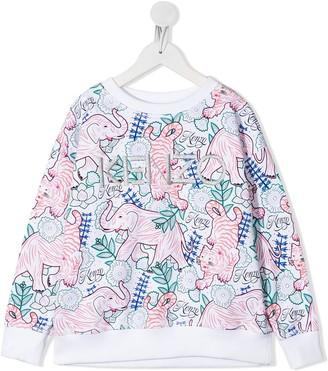 Kenzo Jungle Print Logo Sweatshirt