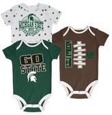 NCAA Michigan State Spartans Newborn 3-Pack Bodysuit Set