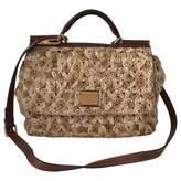 Dolce & Gabbana Beige Wicker Handbag Sicily