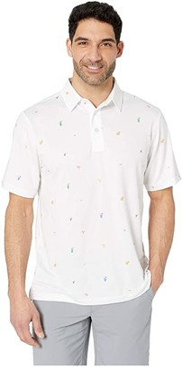 Straight Down Happy Hour Polo (White) Men's Short Sleeve Knit