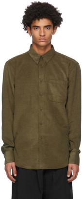 Naked and Famous Denim Khaki Corduroy Easy Shirt