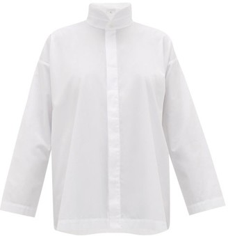eskandar Oversized A-line Cotton-poplin Shirt - White