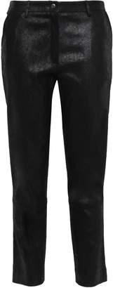 Gentryportofino Cropped Coated Stretch-leather Slim-leg Pants