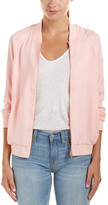 Lucca Couture Satin Bomber Jacket