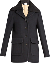 Chloé Detachable-collar single-breasted wool-blend coat