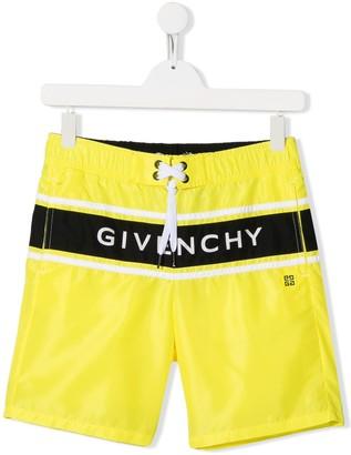 Givenchy Kids TEEN logo print swim shorts