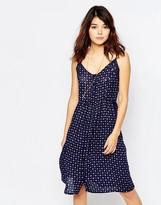 Brave Soul Ditsy Print Midi Dress