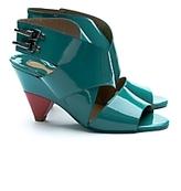 Chloe Patent Crisscross Buckle Sandals