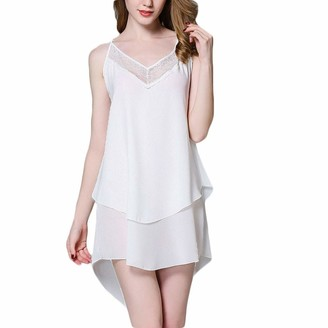 Amuse Miumiu Women Sleepwear❤️ Women Sexy Solid Color Nightdress