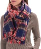 Woolrich Double Duty Plaid Wrap Scarf - Reversible (For Women)