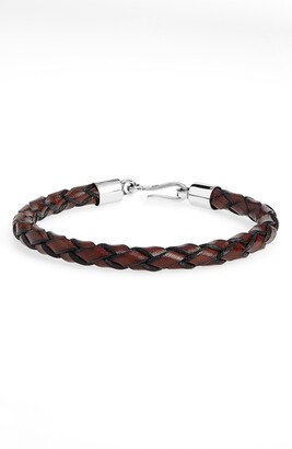 Caputo & Co. Braided Leather Bracelet