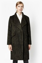French Connection Tyler Wrap-Over Wool Coat