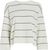 ATM Anthony Thomas Melillo Plaited Jersey Striped Sweatshirt