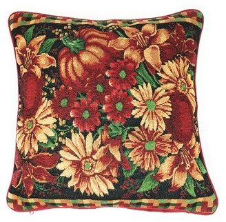 Rojas The Holiday Aisle Pumpkin Floral Throw Pillow Cover The Holiday Aisle