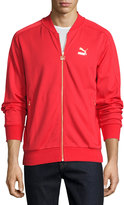 Puma Knit Bomber Jacket, Red