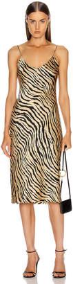 Nili Lotan Short Cami Dress in Gold Tiger Print | FWRD