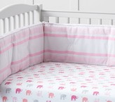 Pottery Barn Kids Elephant Crib Fitted Sheet, Pink