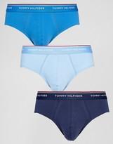 Tommy Hilfiger 3 Pack Briefs In Navy/Blue/Red