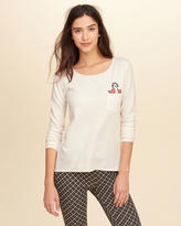 Hollister Embroidered Waffle Sleep T-Shirt