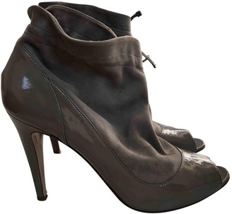 Bally Grey Patent leather Ankle boots