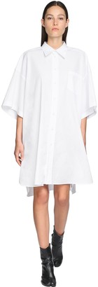 Maison Margiela Oversize Cotton Poplin Shirt Dress