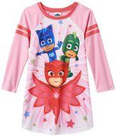 Girls 4-6 PJ Masks Gekko, Owlette & Catboy Raglan Long Sleeve Dorm Nightgown