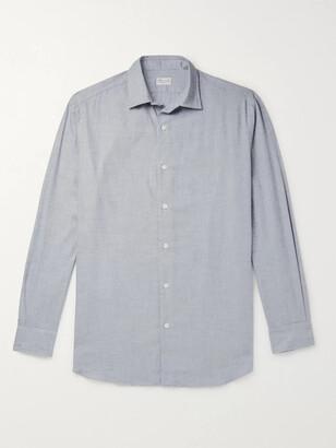Charvet Cotton and Wool-Blend Flannel Shirt - Men - Gray