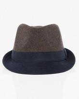 Le Château Colour Block Wool Blend Fedora Hat