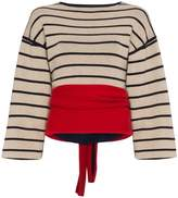 Rosie Assoulin Striped Cashmere Wrap Knit