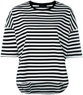 Diesel Black Gold horizontal stripe T-shirt - women - Cotton - S