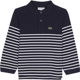 Lacoste Striped cotton polo top 4-16 years