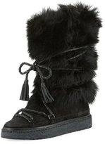 Frye Gail Shearling Fur Tall Boot, Black