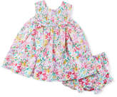 Luli & Me Floral-Print Sleeveless Dress w/ Bloomers, Size 9-24 Months