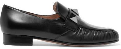 Valentino Rockstud Leather Loafers - Black