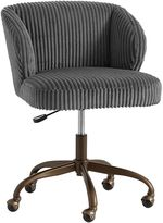 Charcoal Chamois Wingback Desk Chair