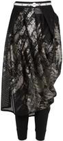 High Carousel Metallic Mesh Skirt